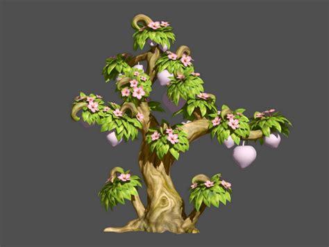 peach tree cartoon  model ds max files   modeling   cadnav