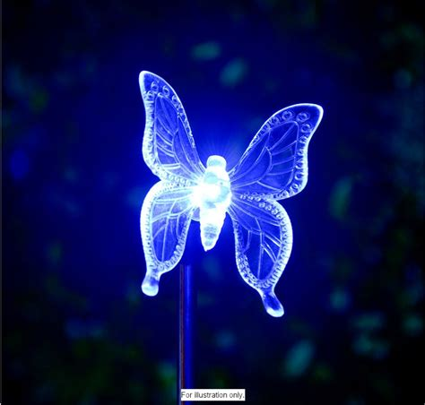 butterfly solar light 12 solar powered white led string lights garden