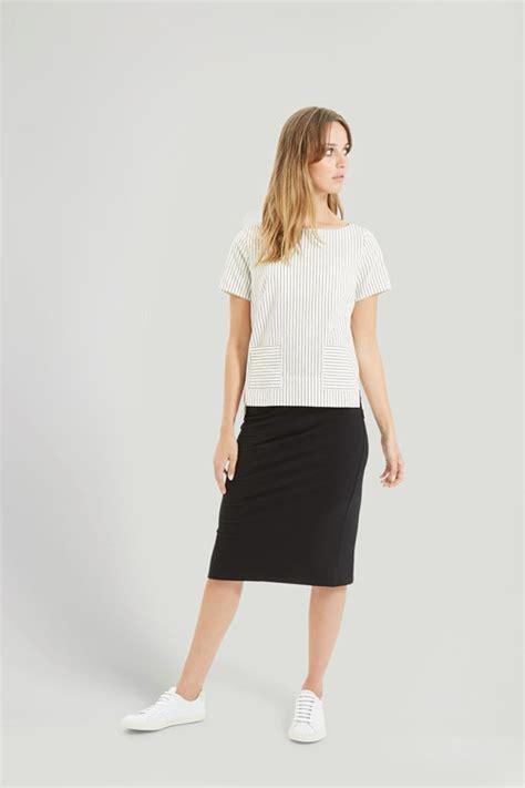 tree tammy pencil skirt in black
