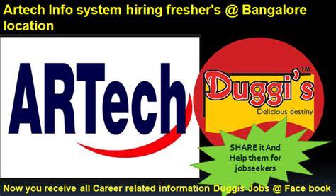pcb design jobs bangalore fresher duggis jobs artech infosystem hiring fresher s