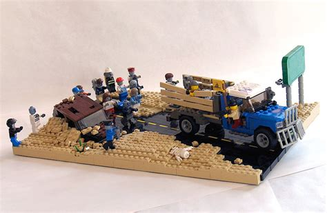 Luxury Tech Gifts Zombie Hunt Lego Diorama The Awesomer