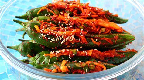 Spicy stuffed green chili pepper kimchi (Gochu sobagi: ??
