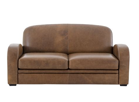 canapes fly canape 2 places cuir vieilli marron canap 233 fly
