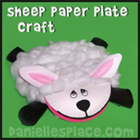 Sheep Paper Plate Craft - sle sunday school lessons