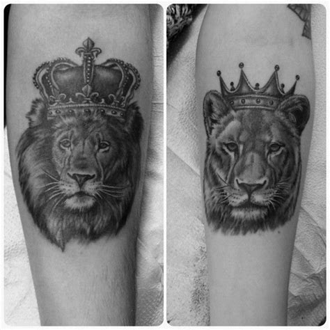 queen lioness tattoo fun his and hers tattoos from today blackandgreytattoos