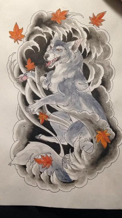 japanese animal tattoo designs japanese neo traditional wolf by me for a client