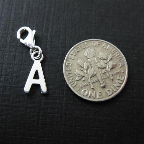 letter charm sterling silver letter charms a z letter pendant charm