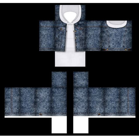 roblox jacket template denim jacket with white hoodie roblox