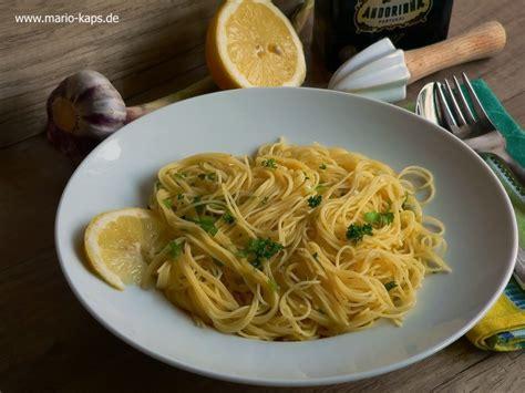 pasta capellini capellini al limone capellini mit zitronen knoblauch sauce