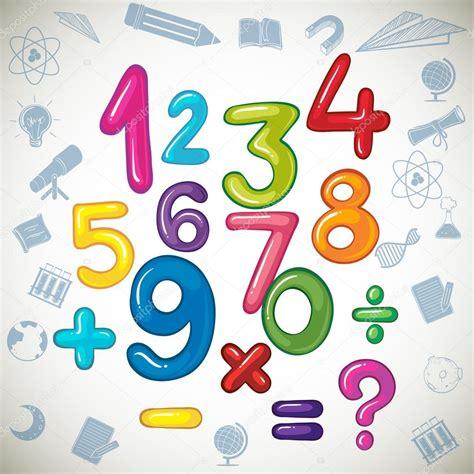 imagenes conicas matematicas n 250 meros y signos de matem 225 ticas vector de stock