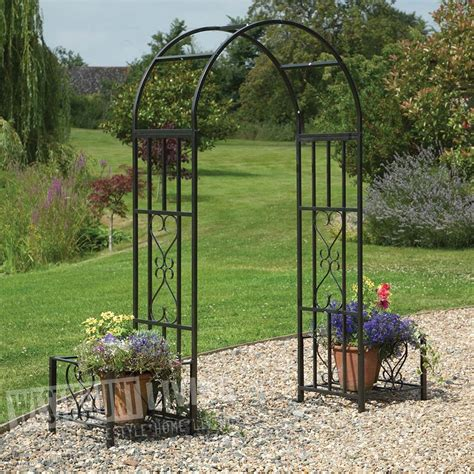 Garden Arch Uk Ornamental Metal Top Garden Planter Arch Westmount