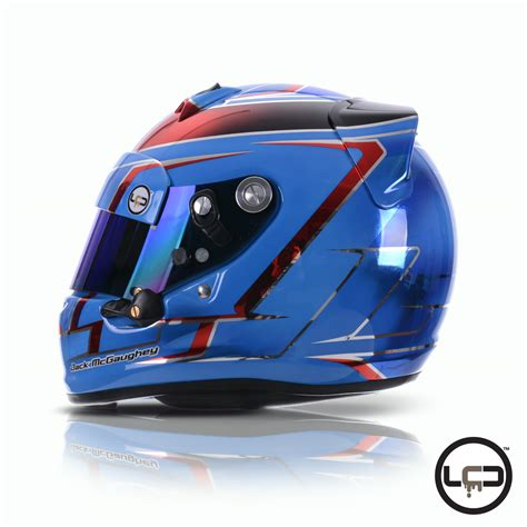 helm design studio jack mcgaughey karting arai sk6 helmet lcd