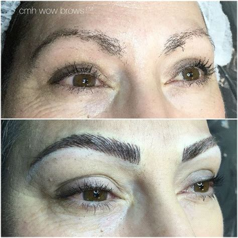 natural eyebrow tattoo diff rent strokes feathers and hair on