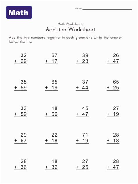 2nd Grade 2 Digit Addition Worksheets by Free Coloring Pages Of Digit Addition