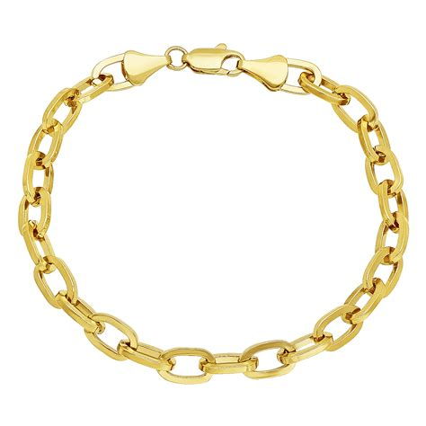 14k Gold Plated Mouse 6mm 14k gold plated cable link chain