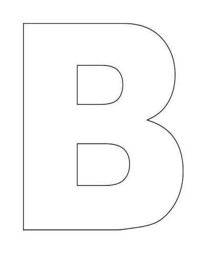 B Template by Here S A Simple Alphabet Letter B Template For This