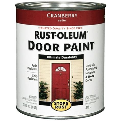 rust oleum stops rust door paint quart