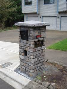 Mailbox traditional landscape portland by brown bros masonry