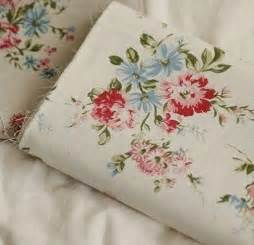 vintage floral fabric with peony flower linen cotton