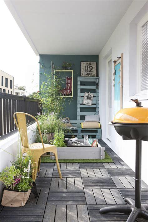 Salle De Bain Vert Et Marron 5428 amenagement balcon etroit creatif decor etroite habitat