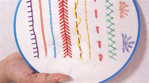 Hand Embroidery for Beginners   Part 5   10 Basic Stitches