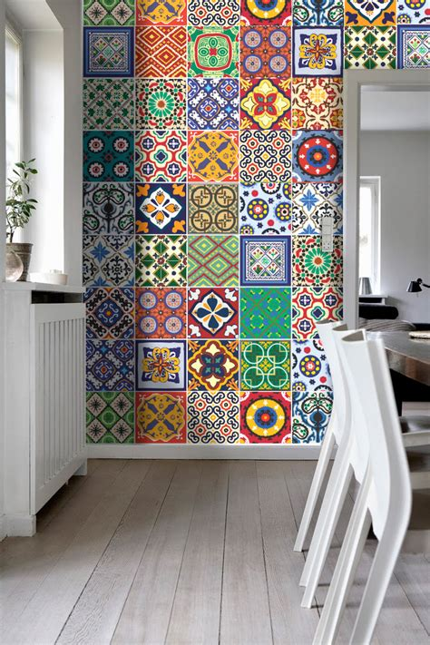 Kitchen Backsplash Tile Stickers Talavera Tile Stickers Kitchen Backsplash Tiles Kitchen