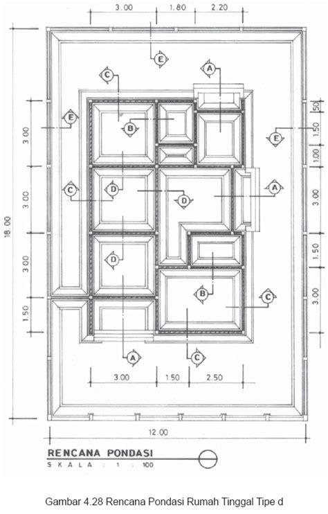 denah rencana pondasi  bangunan jurnal arsitektur