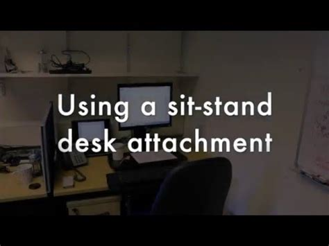 using a sit stand desk attachment