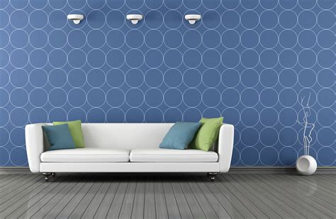 wallpaper interior interior wallpaper blue innovation rbservis