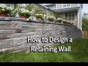Landscape Ideas For Hilly Backyards How To Design A Retaining Wall Youtube