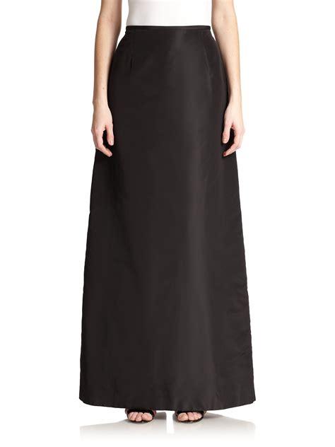 teri jon taffeta a line skirt in black lyst