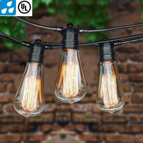 Edison Patio Lights 1000 Ideas About Patio String Lights On Yards Patio Lighting And String Lighting