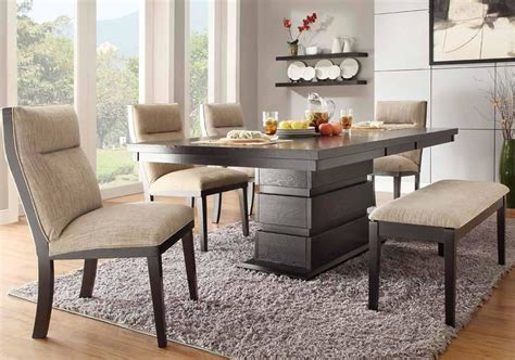 dining room tables with bench dining table dining table padded bench