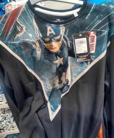 Tshirt Kaos Team Rogers el capi en una nueva promo de captain america civil war