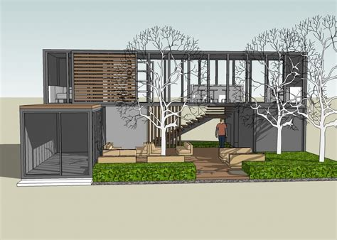 sketchup shipping container in shipping container home