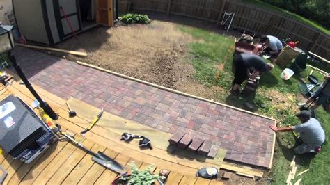 Leveling Patio Base by Patio Time Lapse May12th