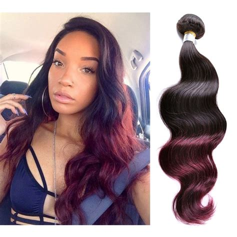 ombre weave hair extensions human hair 1b 99j burgundy ombre hair