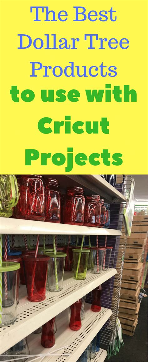Dollar Tree Home Decor Ideas best dollar store products to use for cricut projects