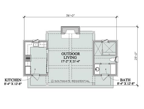 Southgate Residential Poolhouse Plans Blueprints For Pool House