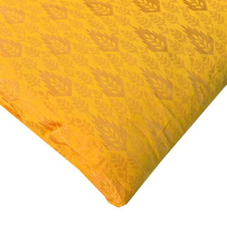 yellow leaf pattern fabric buy yellow and golden leaf pattern brocade silk fabric 8187