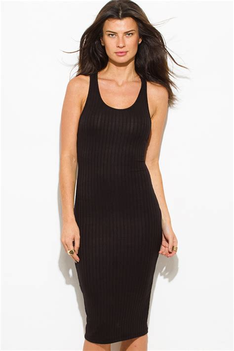 Scoop Neck Sleeveless Ribbed Top shop wholesale womens black ribbed knit sleeveless scoop