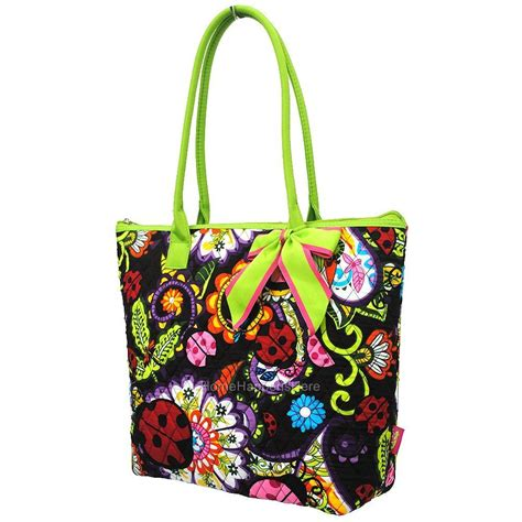 Quilted Purses Vera Bradley by One 16 Quot Quilted Shoulder Tote Book Tablet Bag Purse