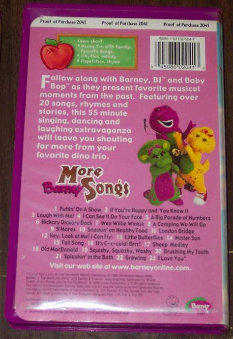 3 barney vhs rhyme rhythm more songs ebay