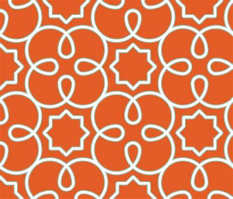 geometric pattern orange geometric loopy orange fabric anntuck spoonflower