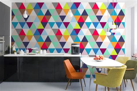 Why Use A Duvet Cover Geometric Design Inspiration For Your Next Accent Wall Or