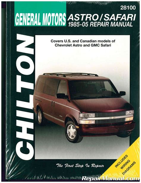 chilton chevrolet astro gmc safari 1985 2005 repair manual