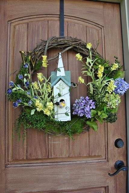 spring wreath for front door front door spring wreath wreaths pinterest