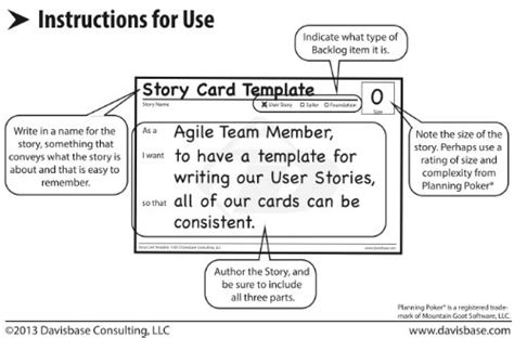 agile story card templates theofficepanda office