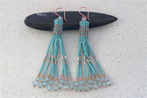 beaded tassel tutorial peyote beaded tassel earrings