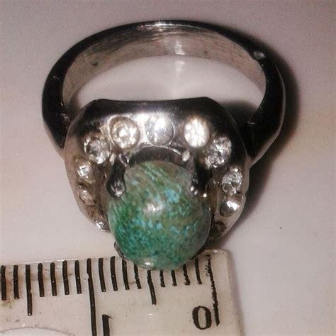 Batu Akik Chalsedon Lumut Rumput batu cincin warna hijau terpilih net